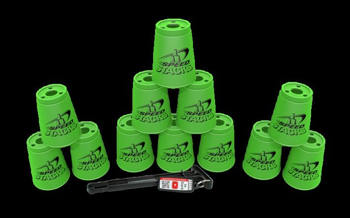 Kopper sæt  - Grøn